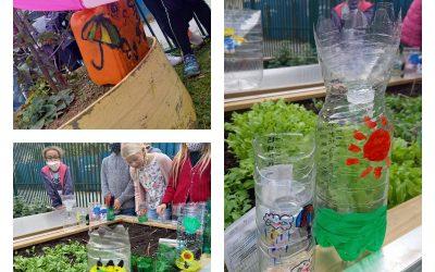 Vrtnarjenje na šolskem Erasmus+ vrtu in v doma izdelanem vrtičku