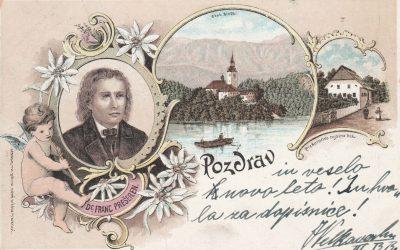 Razglednice s podobo pesnika Franceta Prešerna